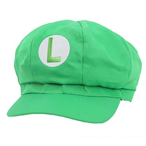 New Version Super Mario Bros Unisex Hat Cap Luigi Hat (Green Luigi Hat)