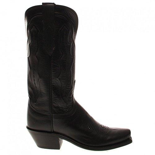 Lucchese Femme Fait Main Grace Ranch Main Botte Western Boot Toe - M5006.74 Noir