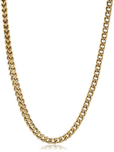 Gold Tone Stainless Foxtail Necklace 24