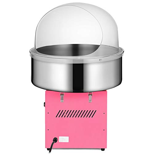 Happybuy Electric Candy Floss Maker With Cover 20.5 Inch Cotton Candy Machine 1030W for Various Parties (Cotton Candy Machine with cover) by Happybuy (Image #2)