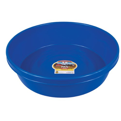 - Little Giant P3BLUE Dura-Flex Plastic Utility Pan, 3-Gallon, Blue