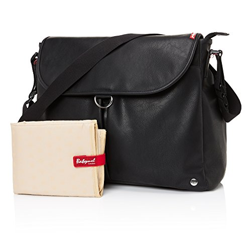 Babymel Ally Vegan Leather Tote Diaper Bag, Black