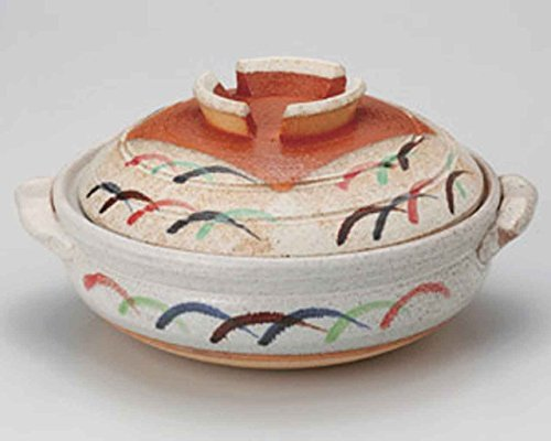 Musashino for 4-5 persons 11.4inch Donabe Japanese Hot pot Beige Ceramic Made in Japan by Watou.asia