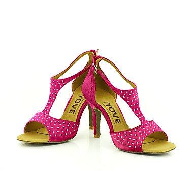 Blanco Amarillo Rojo Latino Morado Negro Personalizado black Rosa Azul Salsa de Zapatos baile Tacón Personalizables RnwxZTAF