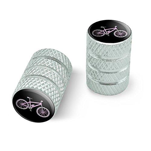 オートバイ自転車バイクタイヤリムホイールアルミバルブステムキャップ - アルミニウムピンクペダルマウンテンバイク自転車