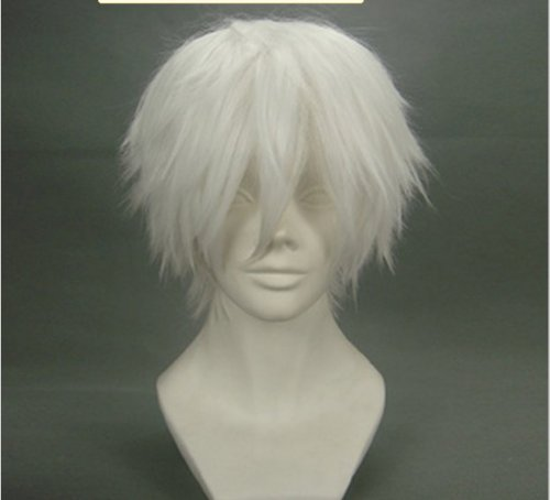Price comparison product image Gin Tama Death Note White Short Cosplay Wig Costume Wigs