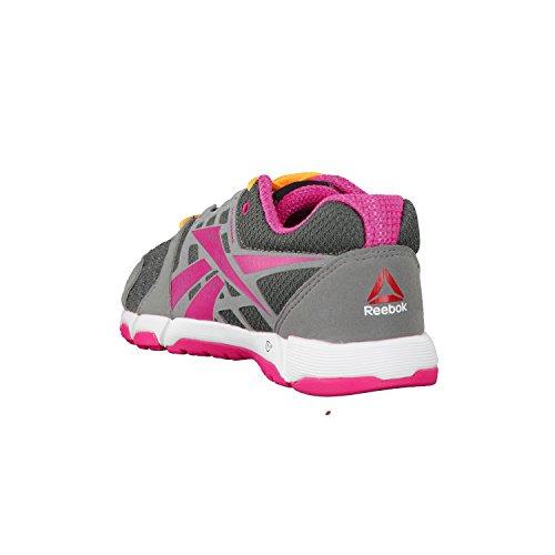 Reebok - Zapatillas para deportes de interior de material sintético para mujer gris - Grey/Pink/Orange/White/Red