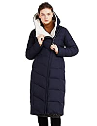 ICEbear Women's Coats Winter Quilted Jackets Long Hooded for Ladies 16G661