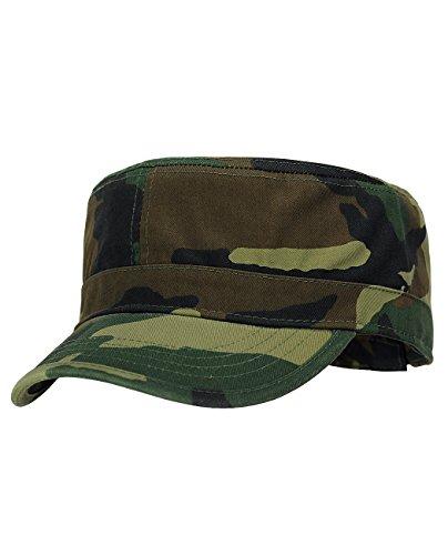 NYFASHION101 Fashionable Solid Color Unisex Adjustable Strap Cadet Cap, Camo