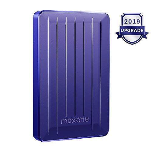 Portable External Hard Drive 320GB - Maxone Upgrade Portable HDD USB 3.0 for PC, Laptop, Mac, Xbox one, PS4, Chromebook, Smart TV - Blue
