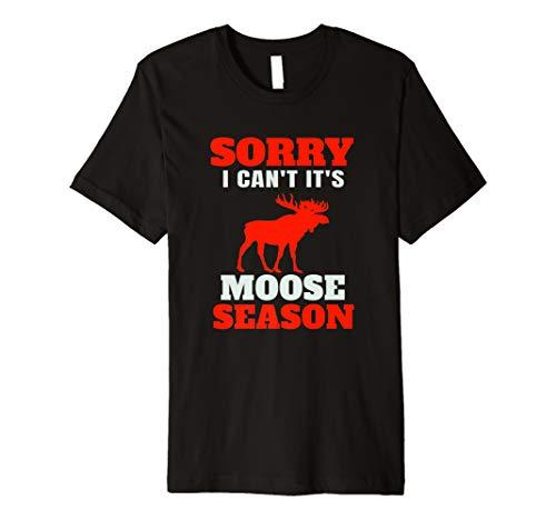 Funny Moose Hunting Season Premium T-Shirt