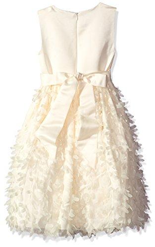 American Princess Little Girls' Toddler All Around Flower Petal Dress, Candlelight, 3T