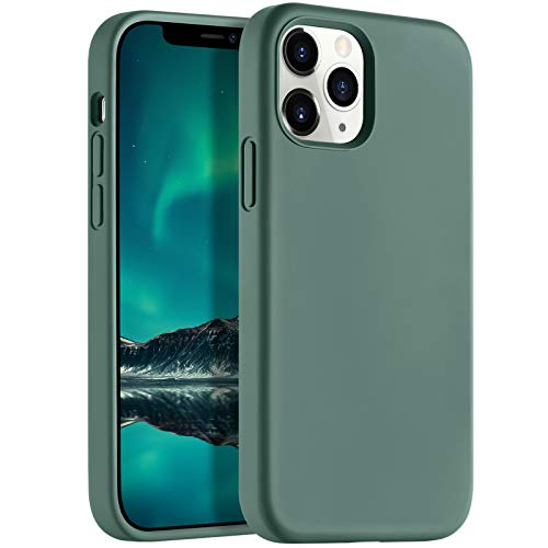 LEOMARON Compatible with iPhone 12 Pro Max Case 6.7 inch, Liquid Silicone Full Body Protection Cover Case with Soft Microfiber Cloth Lining for iPhone 12 Pro Max 2020