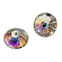Unidecor 1 Pair of Crystal Door Knob Furniture Handle Bathroom Handle Knobs Colorful(diameter:80 Mm 3.15inch High: 40mm 1.57inch)