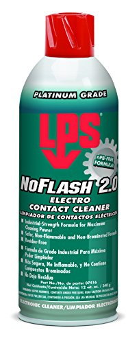 Lps Electro Cleaner Contact (LPS NoFlash 2.0 Electro Contact Cleaner, 12 oz. Aerosol Can (Pack of 12))