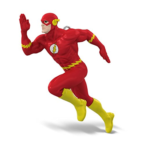 Hallmark Keepsake Mini Christmas Ornament 2018 Year Dated, DC Comics Justice League The Flash Miniature, 1.3