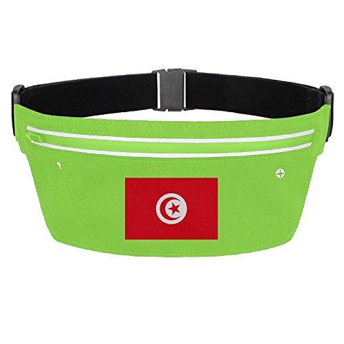 Waist Pack Bag Tunisia Flag Running Belt Ultrathin Hide Purse Adjustable Waterproof Outdoor