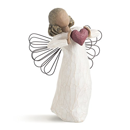 Heart Figurine (Willow Tree hand-painted sculpted angel, With Love)