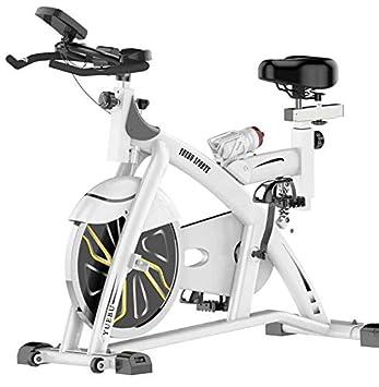 Lcyy-Bike Entrenadores De Bicicleta Resistencia Magnética 15 Kg Volante Cardio Workout con Pantalla Multifuncional