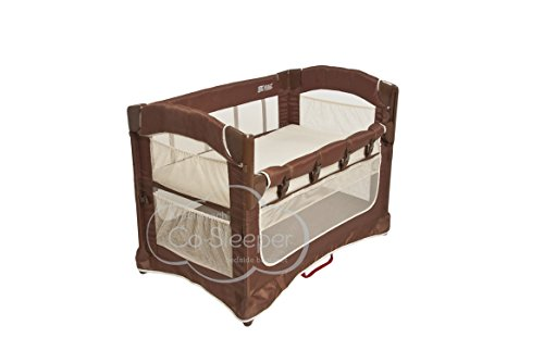 Find Cheap Arm's Reach Concepts Ideal Ezee 3-in-1 Bedside Bassinet - Cocoa Natural/Brown