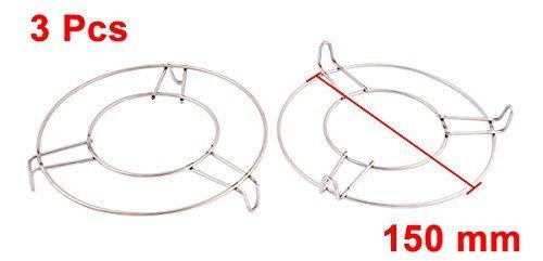 Amazon.com: eDealMax redondo de acero inoxidable al vapor bastidor soporte 6 pulgadas x 1 pulgada 3 piezas: Kitchen & Dining