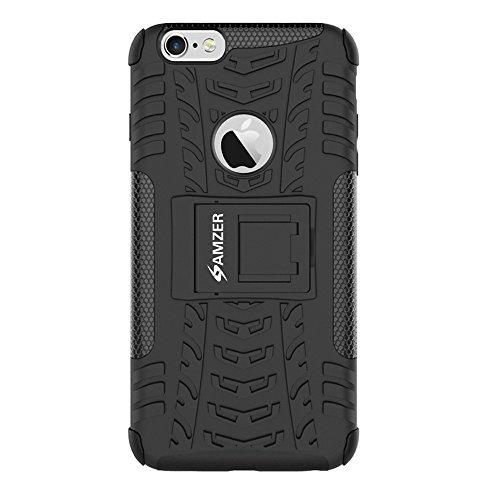 Amzer Hybrid Warrior Schutzhülle für iPhone 6/6S–Schwarz