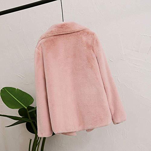 Rojo Señoras Mujeres Apretado Las Blusa Azul Ocasional Abrigo Marrón De La Rosa Cubierta Color Moda Sólido Para Caliente Mantener Salvaje qP0EF