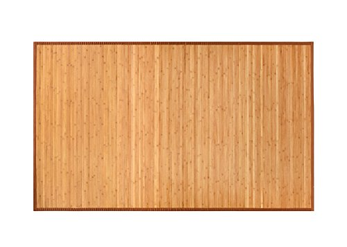 BuyHive Bamboo Rug Natural Bamboo Home Kitchen Area Floor Carpet Mat (6'x9', Natural Bamboo) ()