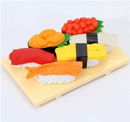 Amazon.com: Iwako gomas de borrar de Sushi Japón 6 piezas ...