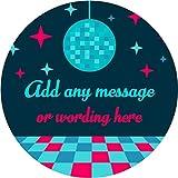 hiusan Disco Ball Dance Floor Personalized Sticker Lables Christmas Address Labels Envelop Seals Party Favor Tags Lable