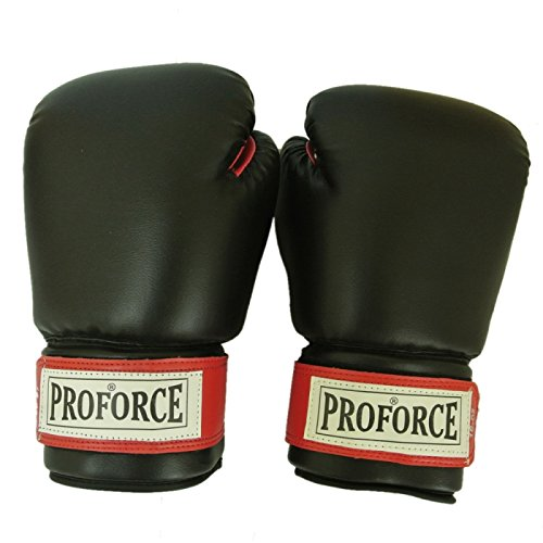 Boxing Gloves - ProForce Leatherette Boxing Gloves with Red Palm 14oz 8014 (Proforce Leatherette Boxing Gloves)