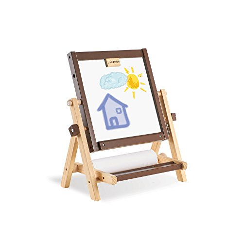 Guidecraft 4-in-1 Flipping Tabletop Art Easel - Dry-Erase Board and Chalkboard