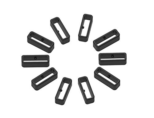 TenCloud 10-Pack Replacement Black Silicone Secure Band Holders Keepers Fasteners Loop Compatible for Approach Series-Approach S10,S20,S60 Watch Tracker (Approach S10 / S20)