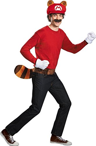 Mario Bros Gloves (Super Mario Bros Nintendo Mario Raccoon Instant Costume Kit Adult)