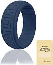 Silicone Wedding Ring for Men for Women, Rubber Wedding Band, Breathable Rubber Rings for Men,Ultra Comfortabl