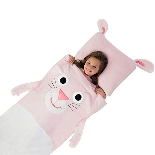 Kids plush sleeping bag with pillow (Bunny)