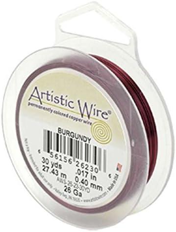 Burgundy 15YD Beadalon 22 Gauge Artistic Wire