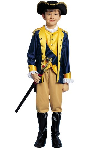 Kids Patriot Costume - Child Size Large 12-14 - (RUNS VERY SMALL See Notes, does not include weapon)