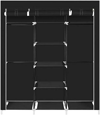 不織布 ワードローブ 衣類ケース 衣類収納ラック クローゼット 収納ボックス クローゼット収納 ワイドハンガー おもちゃ収納 洋服収納 耐荷重 大容量 収納棚