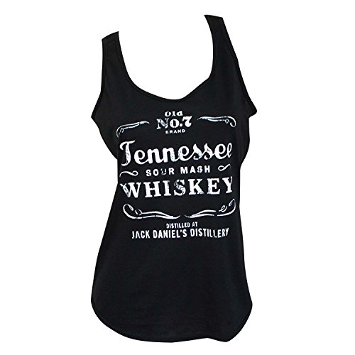 Jack Daniel's Tennessee Whiskey Women's Tank Top (Small) Black