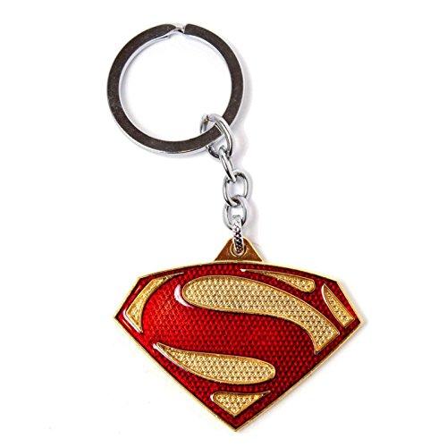 Superman Keyring Keychain 3D Metal Shiny Classic Logo Official Dc Comics Black Classic Logo Keychain