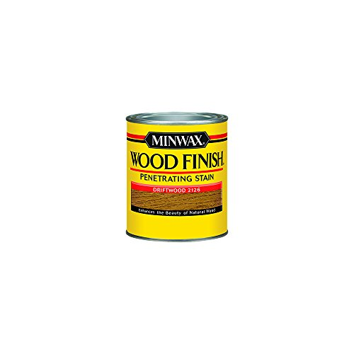 - Minwax 221264444 Wood Finish Penetrating Interior Wood Stain, 1/2 pint, Driftwood