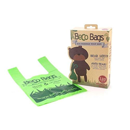4X Beco Pets Degradable Handle Poop Bags 120 per Pack