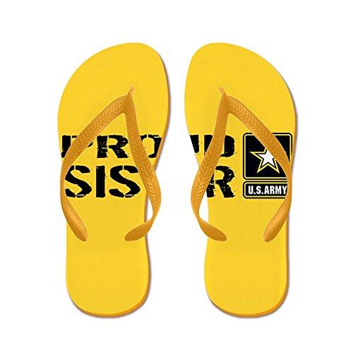 Esercito Ci Esercito: Sorella Orgogliosa (oro) - Infradito, Divertenti Sandali Infradito, Sandali Da Spiaggia Arancione