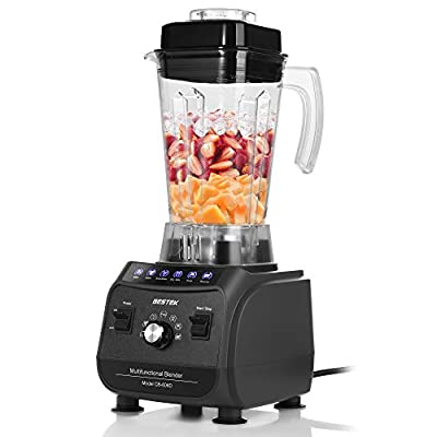 BESTEK Professional Blender for Shakes and Smoothies, 1500W Multi-Function Smoothie Maker, 6 Pre-programmed Food Processor with 2L 8-Cup Jar