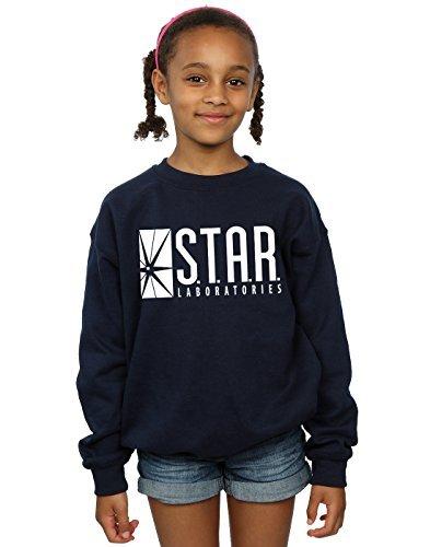 DC Comics Girls The Flash Star Labs Sweatshirt 12-13 Years Navy Blue
