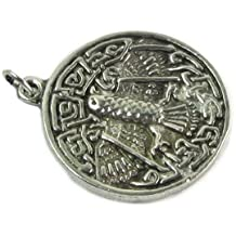 Celtic Hawk Pewter Pendant on Cord Necklace, The Celtic Collection