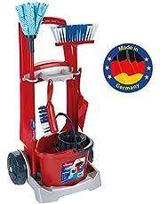 Theo Klein- Klein Cleaning Trolley Vileda Carro De Limpieza, Juguette, Color rojo (6741)