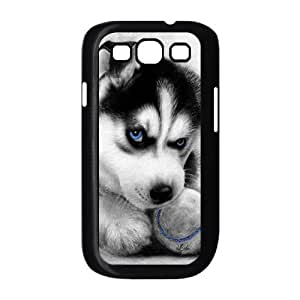 Cute dog blue eyed husky dog Hard Plastic phone Case Cover For Samsung Galaxy S3 JWH103030