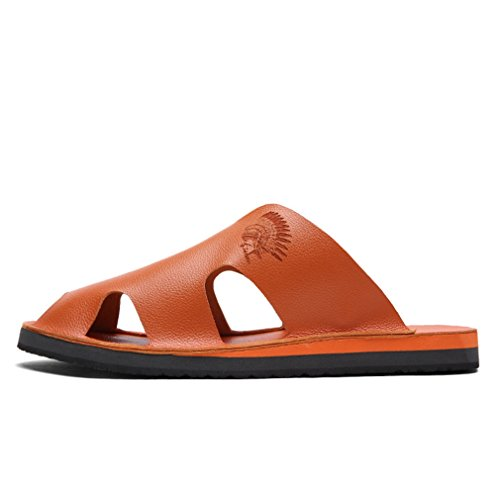 Summer Brown MAC Casual Outdoor Mens Backless Toe Shoes Slides Closed Sandals for Beach U Sports Slip Non ABqPaq